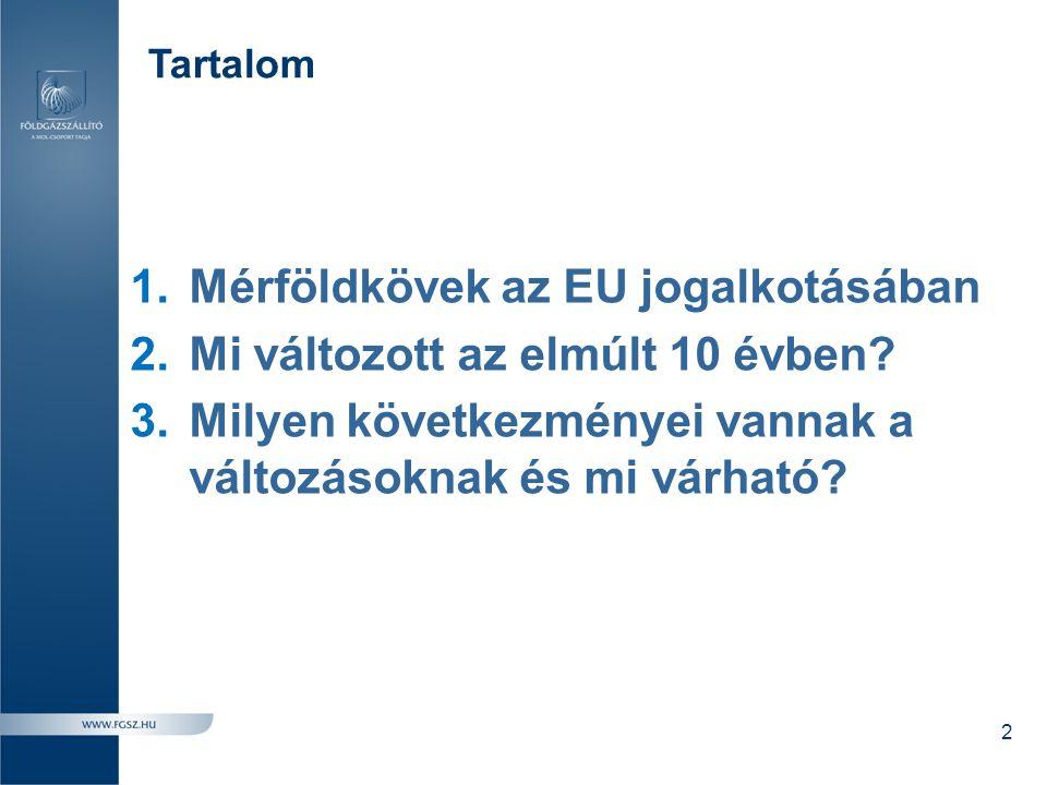 Mérföldkövek az EU jogalkotásában Mi változott az elmúlt 10 évben
