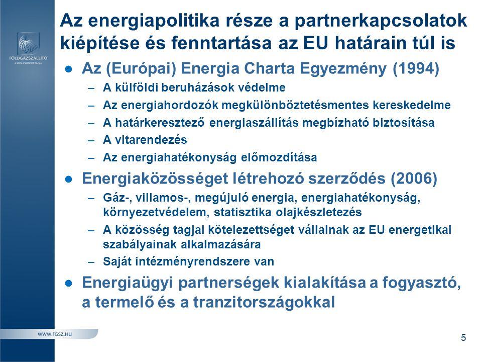 Az energiapolitika része a partnerkapcsolatok kiépítése és fenntartása az EU határain túl is