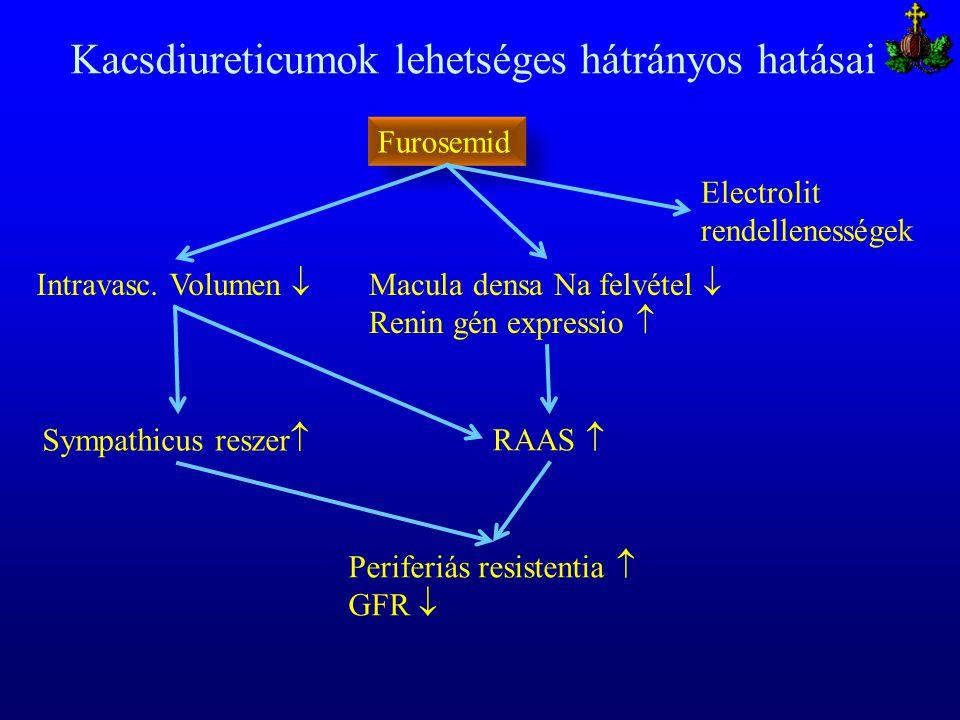 Kacsdiureticumok lehetséges hátrányos hatásai