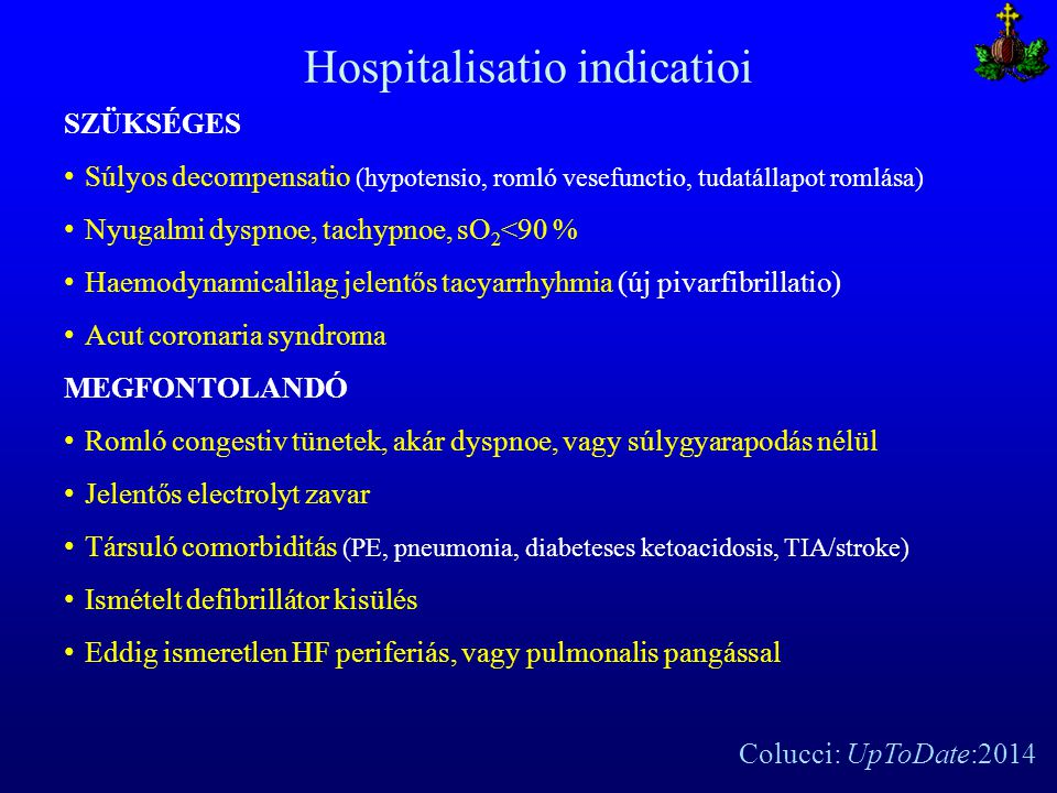 Hospitalisatio indicatioi