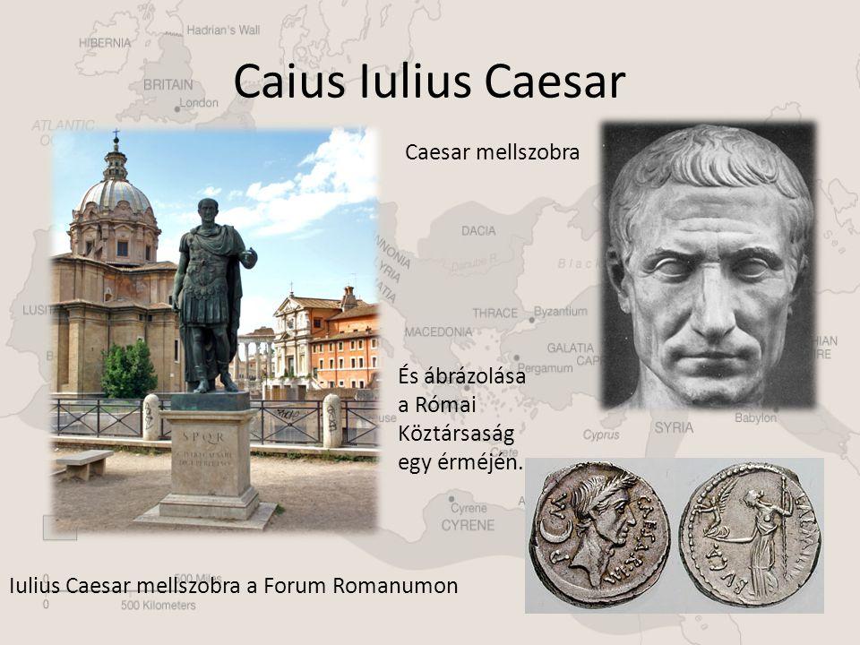 Caius Iulius Caesar Caesar mellszobra