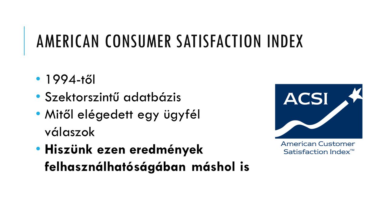 American consumer satisfaction index