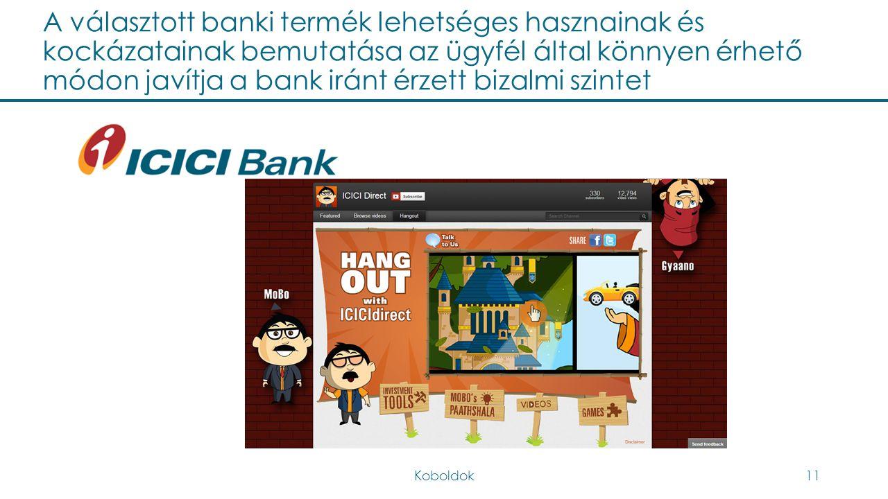 A választott banki termék lehetséges hasznainak és kockázatainak bemutatása az ügyfél által könnyen érhető módon javítja a bank iránt érzett bizalmi szintet