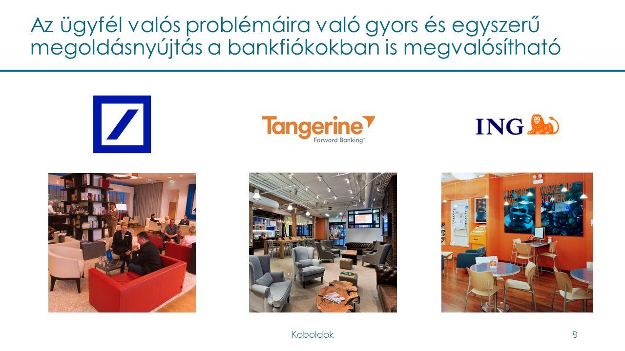 Az ügyfél valós problémáira való gyors és egyszerű megoldásnyújtás a bankfiókokban is megvalósítható