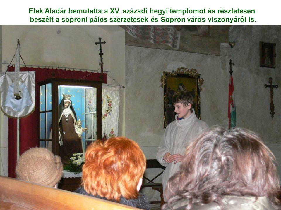 beszélt a soproni pálos szerzetesek és Sopron város viszonyáról is.