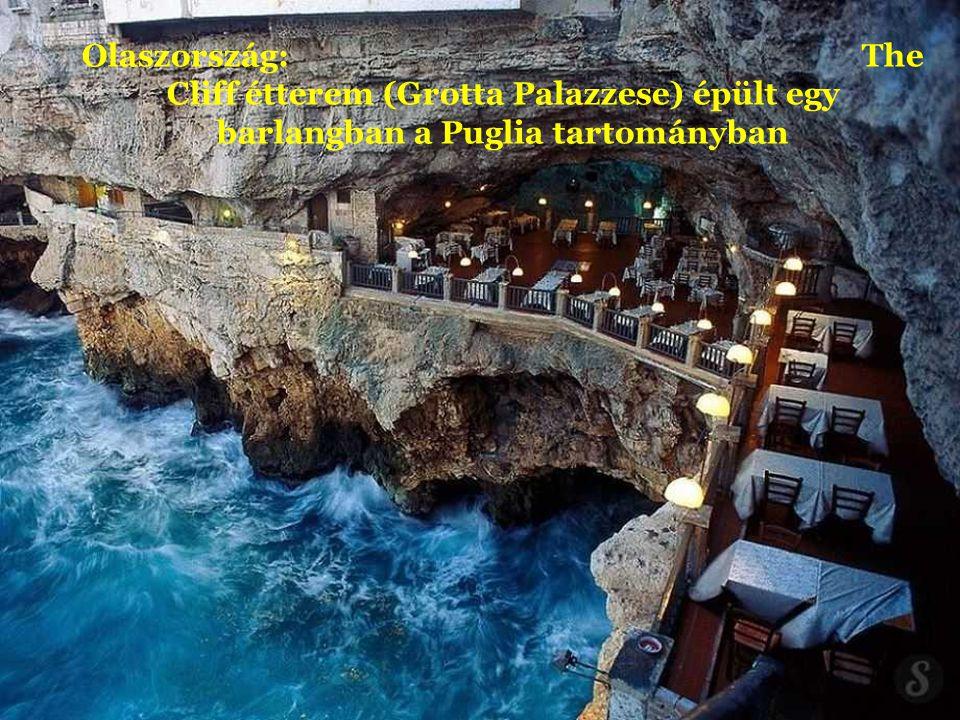 Olaszország: The Cliff étterem (Grotta Palazzese) épült egy barlangban a Puglia tartományban
