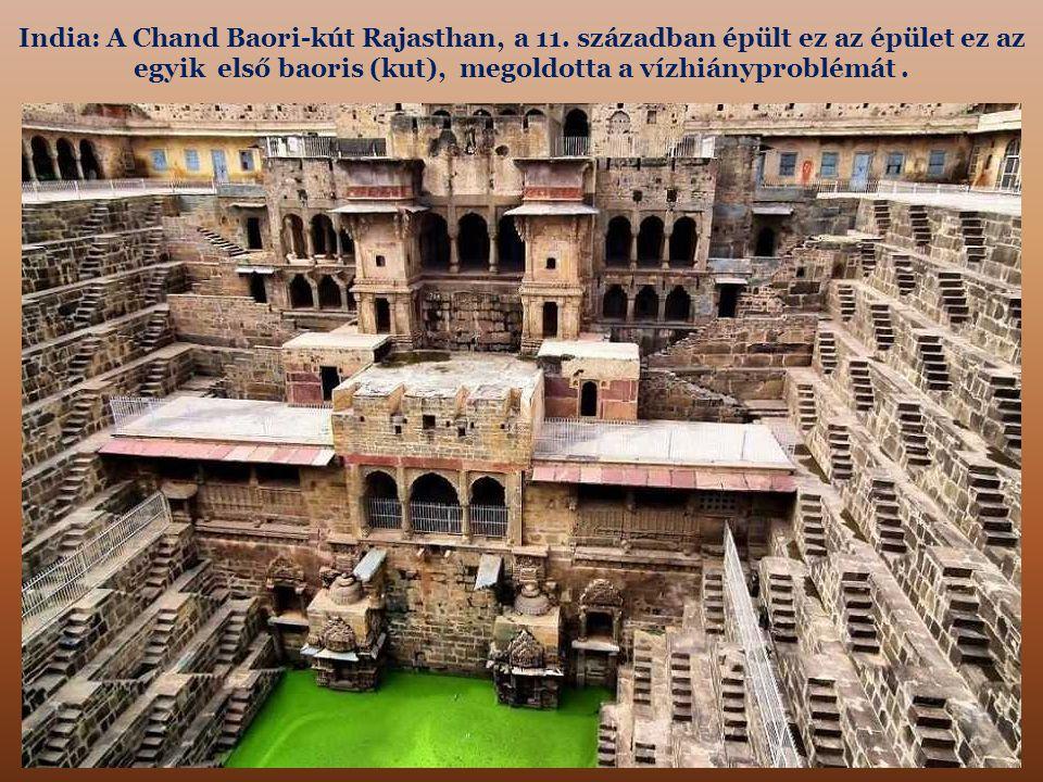 India: A Chand Baori-kút Rajasthan, a 11