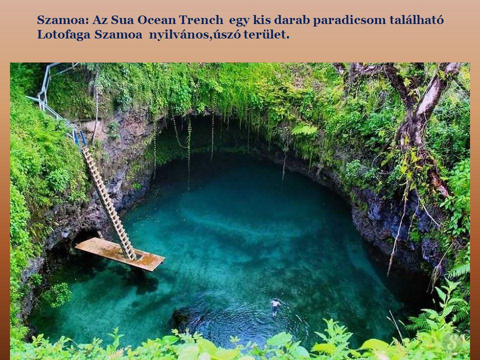 Szamoa: Az Sua Ocean Trench egy kis darab paradicsom található Lotofaga Szamoa nyilvános,úszó terület.