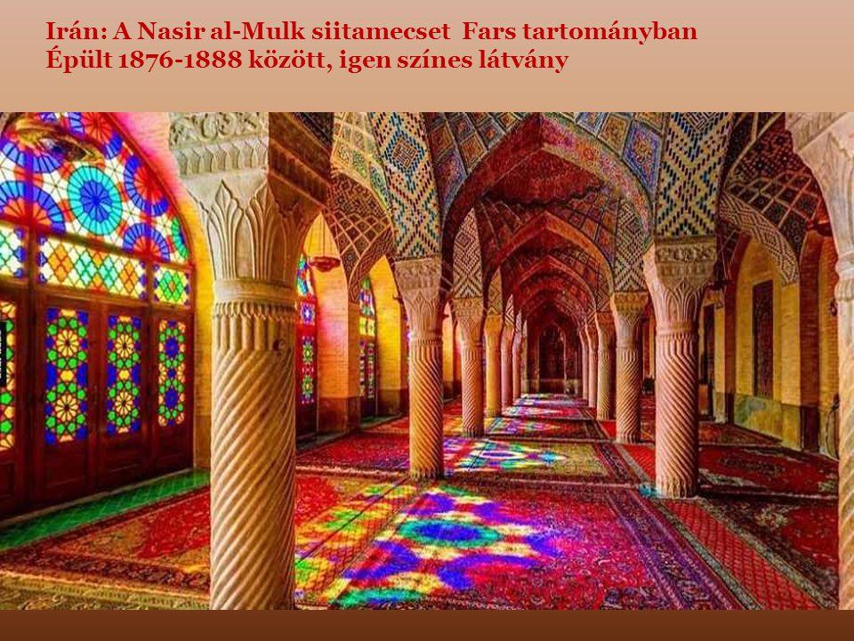 Irán: A Nasir al-Mulk siitamecset Fars tartományban Épült 1876-1888 között, igen színes látvány