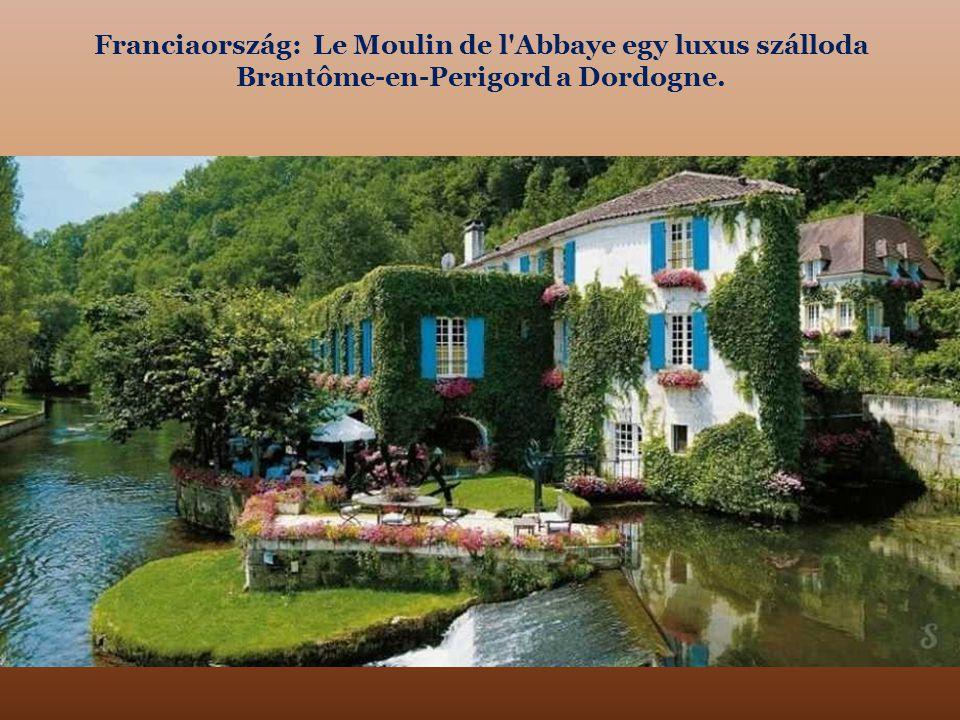 Franciaország: Le Moulin de l Abbaye egy luxus szálloda Brantôme-en-Perigord a Dordogne.