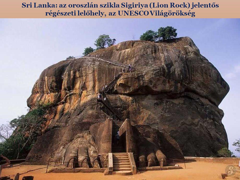 Sri Lanka: az oroszlán szikla Sigiriya (Lion Rock) jelentős régészeti lelőhely, az UNESCO Világörökség