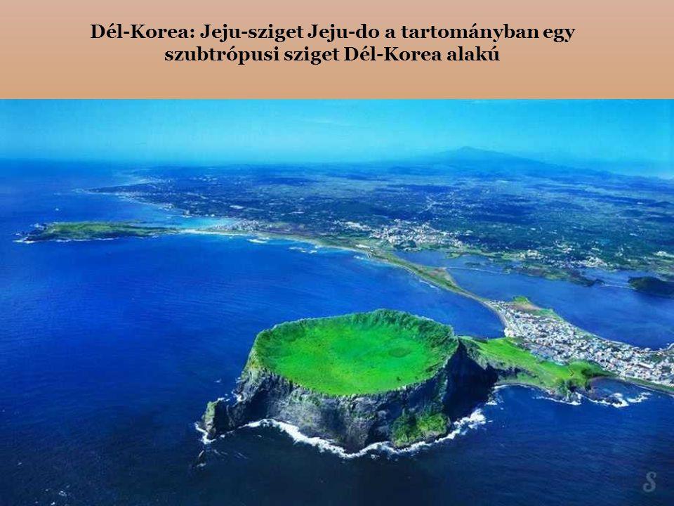 Dél-Korea: Jeju-sziget Jeju-do a tartományban egy szubtrópusi sziget Dél-Korea alakú