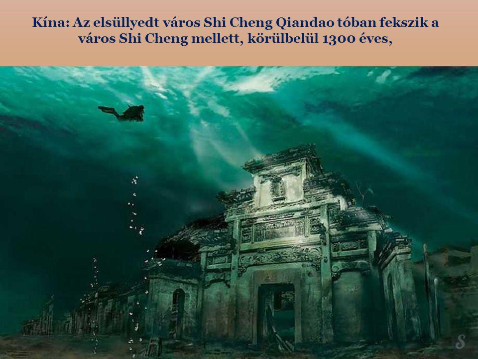 Kína: Az elsüllyedt város Shi Cheng Qiandao tóban fekszik a város Shi Cheng mellett, körülbelül 1300 éves,