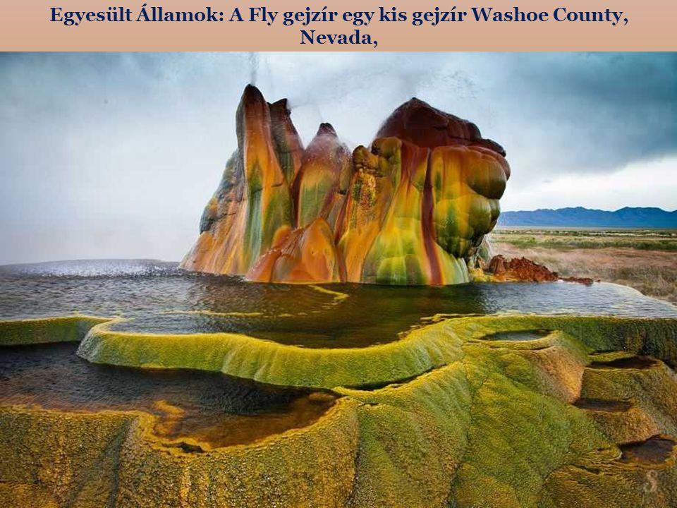 Egyesült Államok: A Fly gejzír egy kis gejzír Washoe County, Nevada,