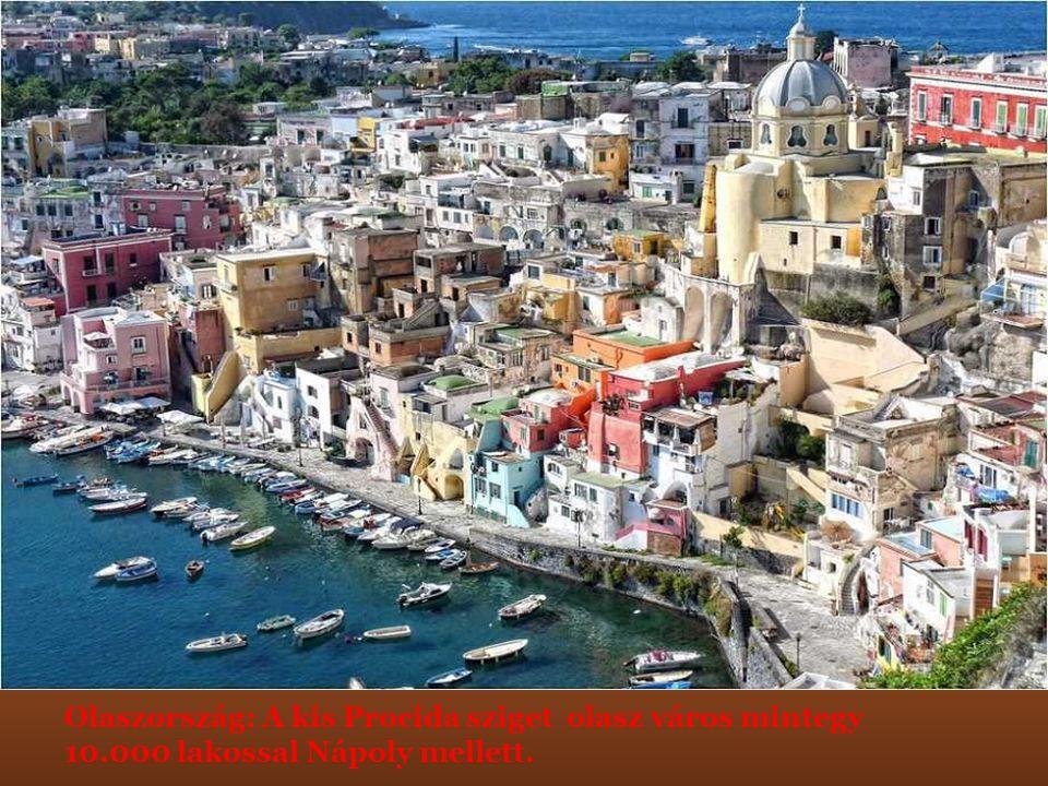 Olaszország: A kis Procida sziget olasz város mintegy 10