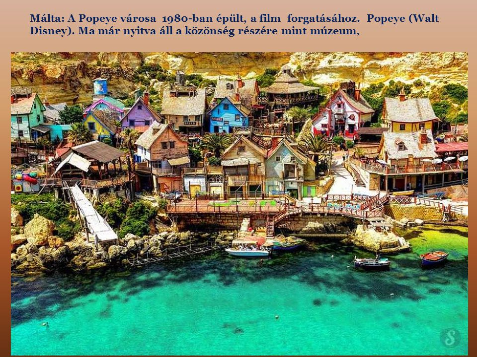Málta: A Popeye városa 1980-ban épült, a film forgatásához