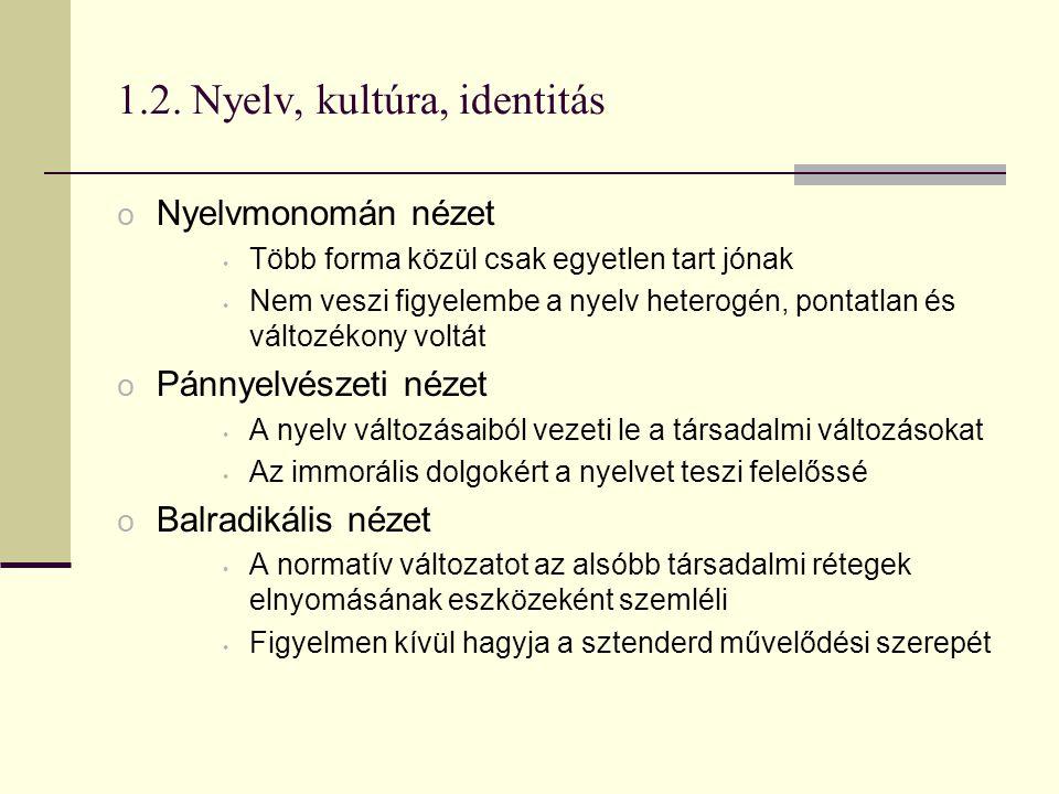 1.2. Nyelv, kultúra, identitás