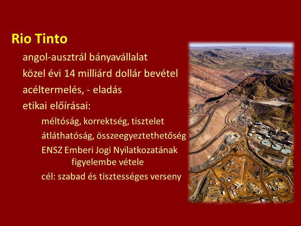 Rio Tinto angol-ausztrál bányavállalat