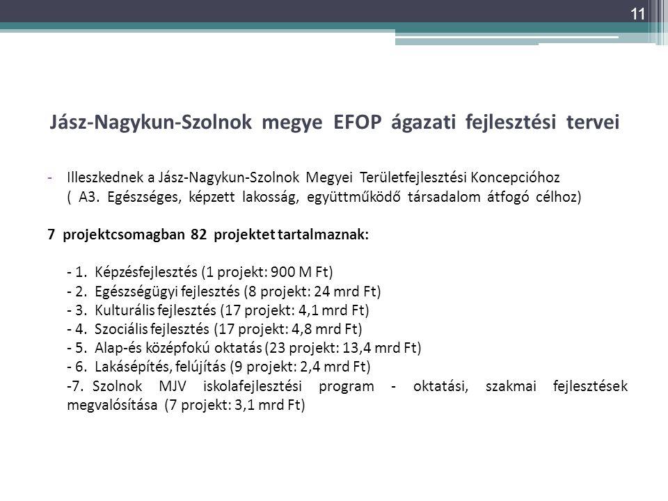 Jász-Nagykun-Szolnok megye EFOP ágazati fejlesztési tervei