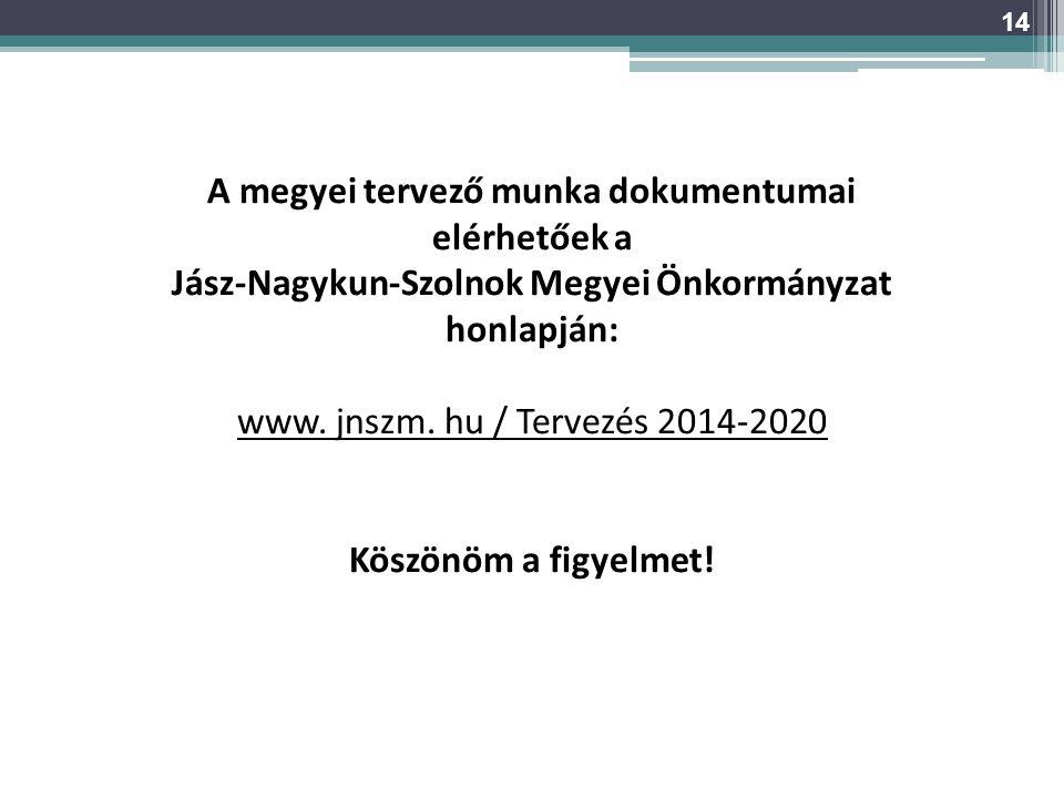 A megyei tervező munka dokumentumai elérhetőek a