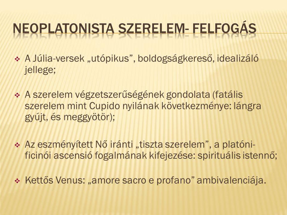 Neoplatonista szerelem- felfogás