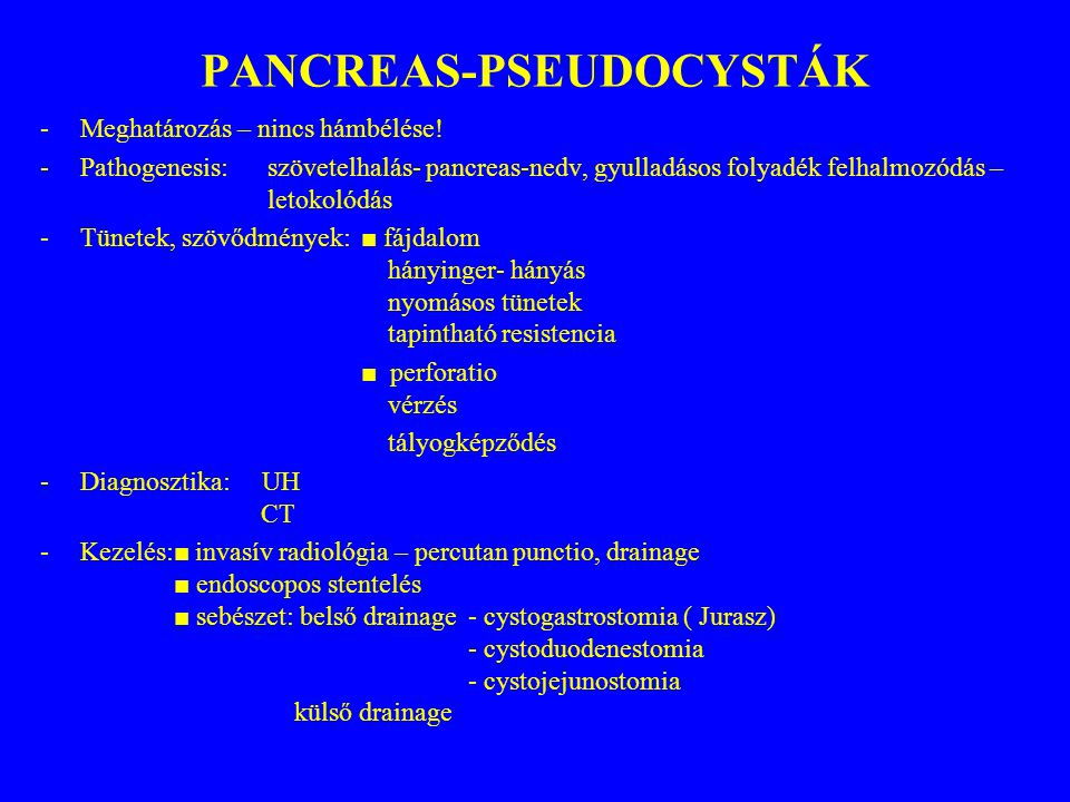PANCREAS-PSEUDOCYSTÁK