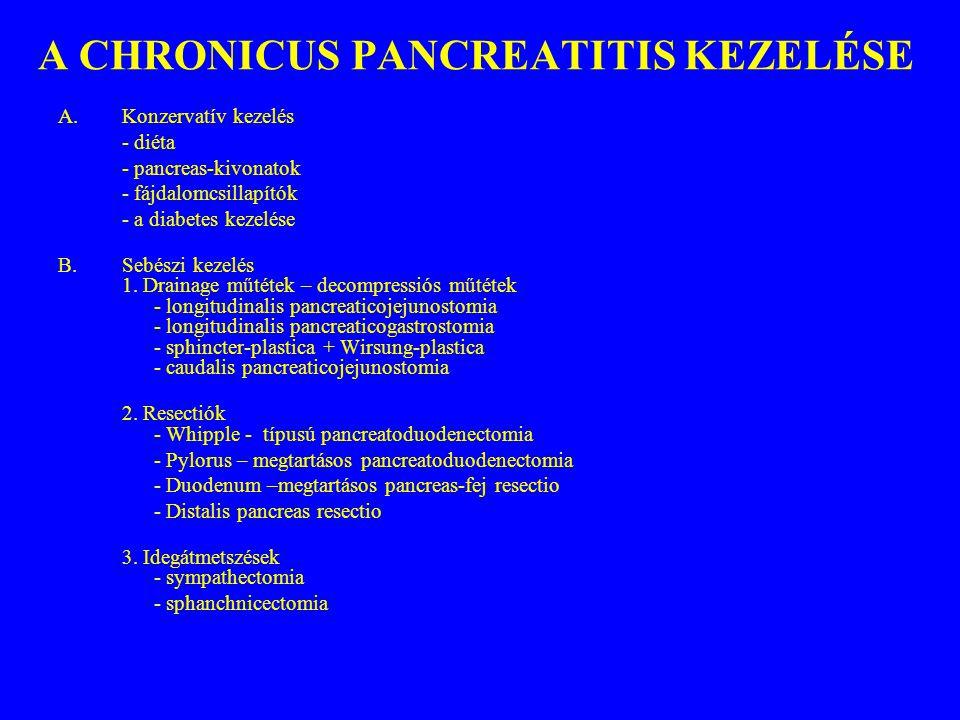 A CHRONICUS PANCREATITIS KEZELÉSE