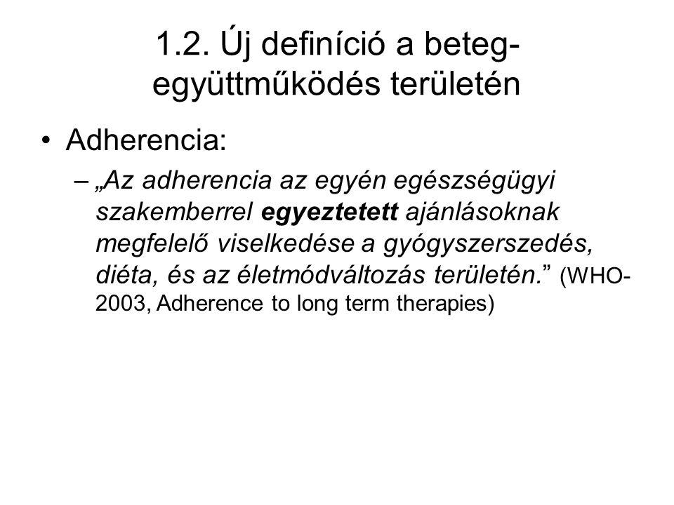 1.2. Új definíció a beteg-együttműködés területén