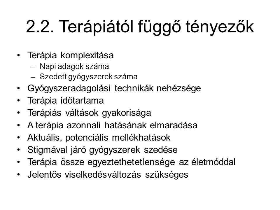 2.2. Terápiától függő tényezők