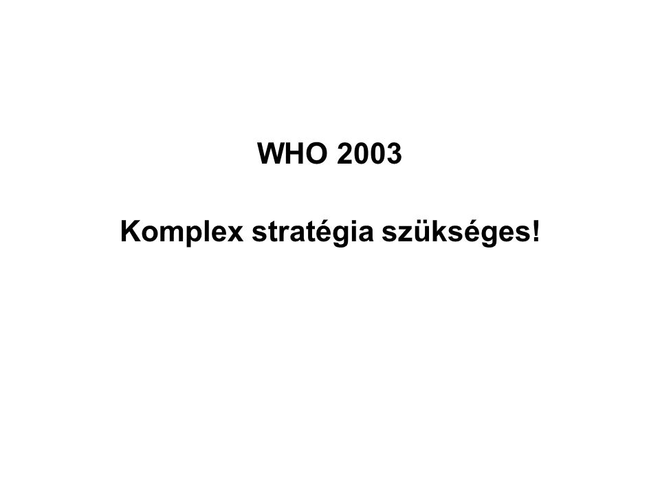 Komplex stratégia szükséges!