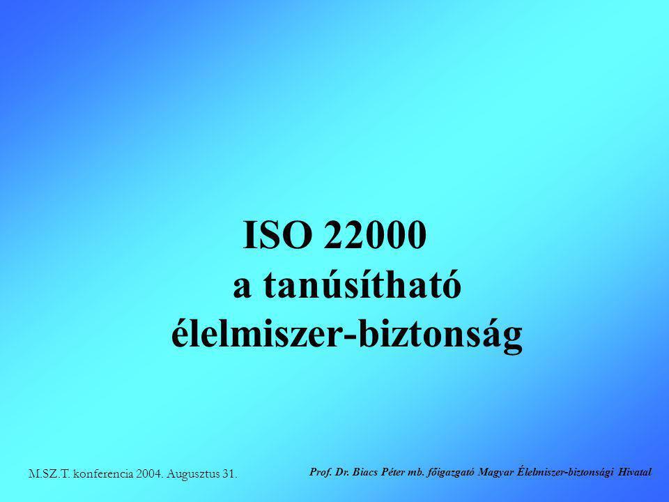 ISO 22000 a tanúsítható élelmiszer-biztonság