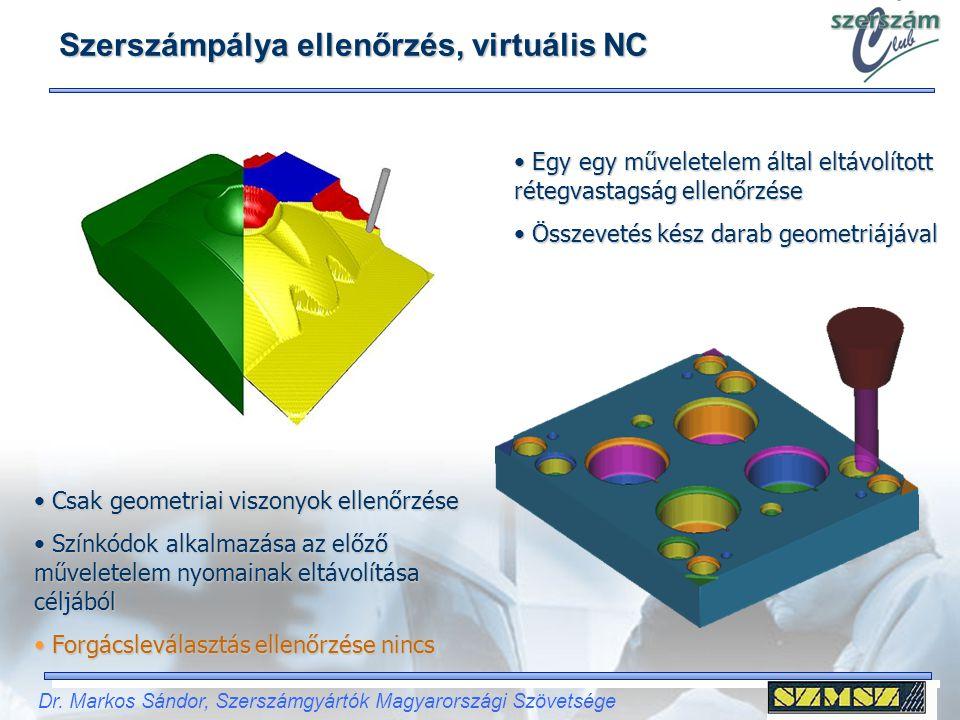 Szerszámpálya ellenőrzés, virtuális NC