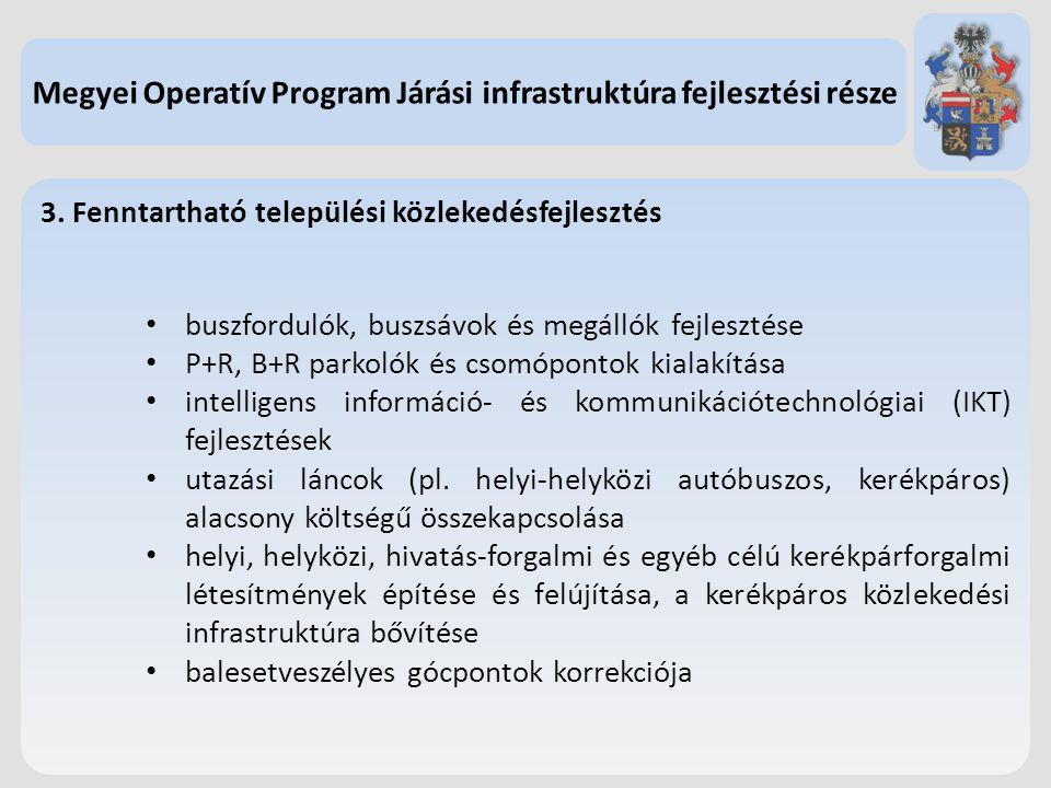 Megyei Operatív Program Járási infrastruktúra fejlesztési része