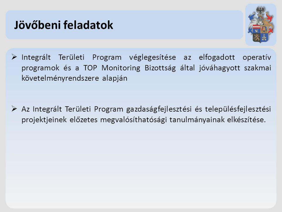 Integrált Területi Program véglegesítése az elfogadott operatív programok és a TOP Monitoring Bizottság által jóváhagyott szakmai követelményrendszere alapján