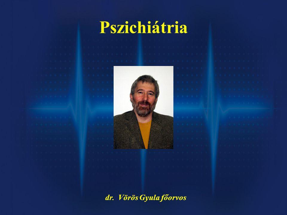 Pszichiátria dr. Vörös Gyula főorvos