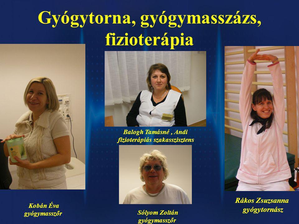 Gyógytorna, gyógymasszázs, fizioterápia fizioterápiás szakasszisztens
