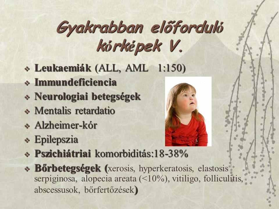 Gyakrabban előforduló kórképek V.