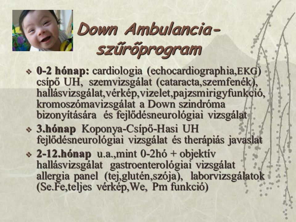 Down Ambulancia-szűrőprogram