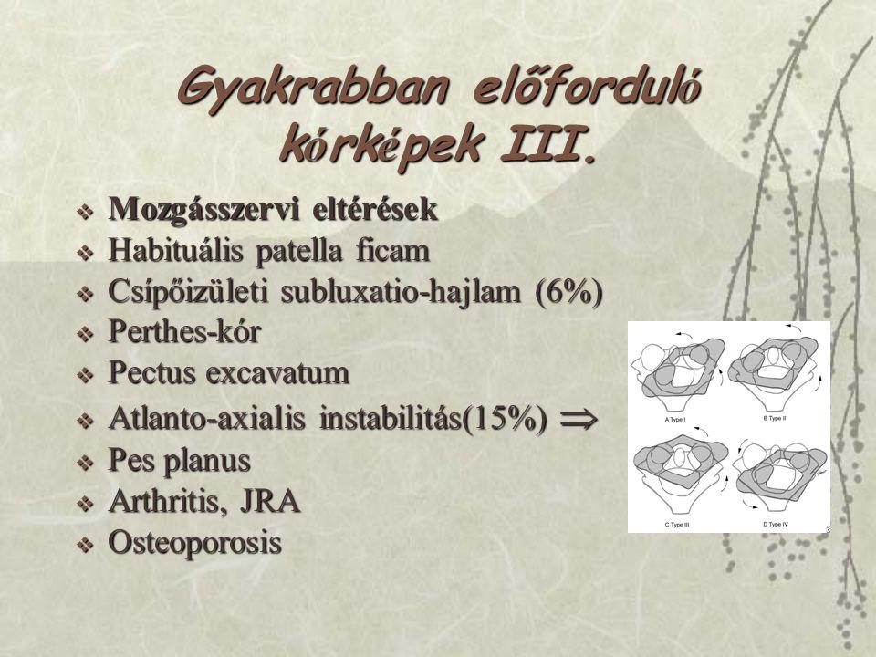 Gyakrabban előforduló kórképek III.