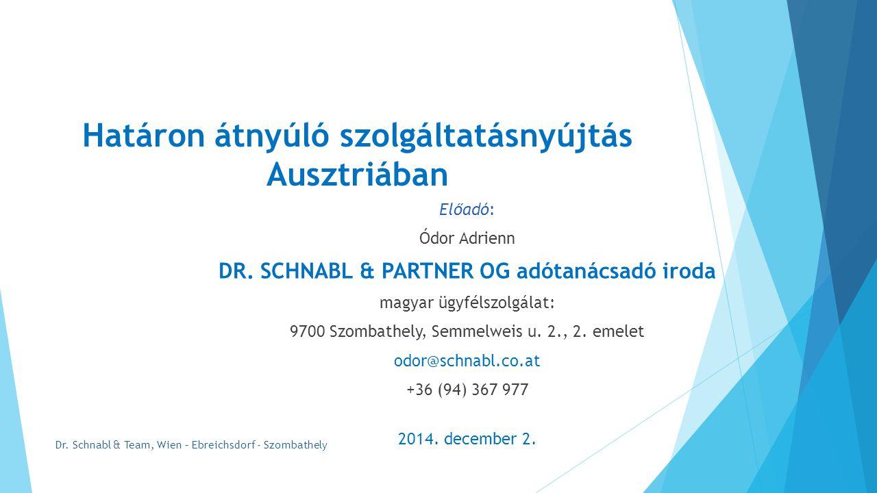 Határon átnyúló szolgáltatásnyújtás Ausztriában