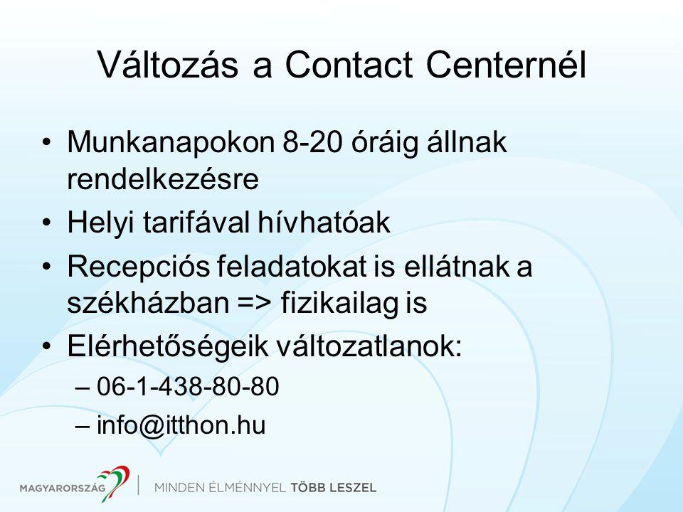 Változás a Contact Centernél