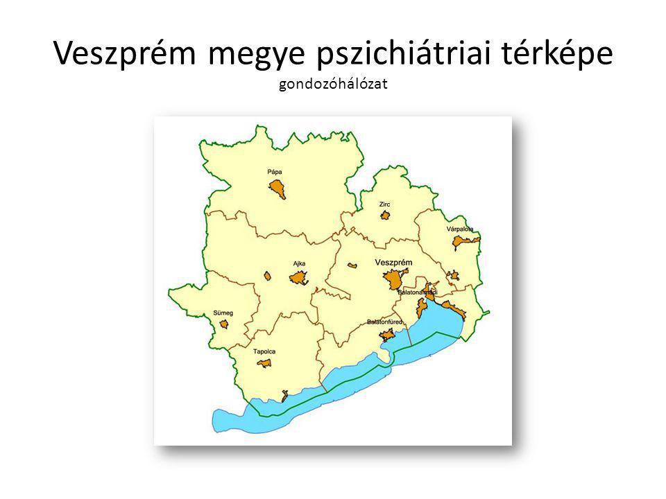 Veszprém megye pszichiátriai térképe gondozóhálózat