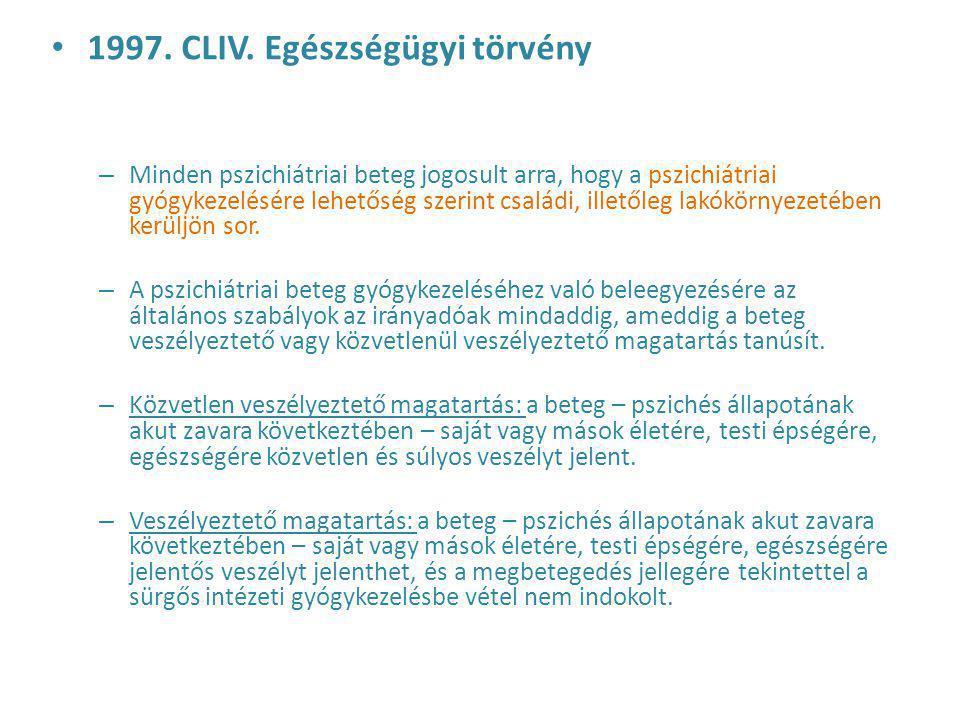1997. CLIV. Egészségügyi törvény