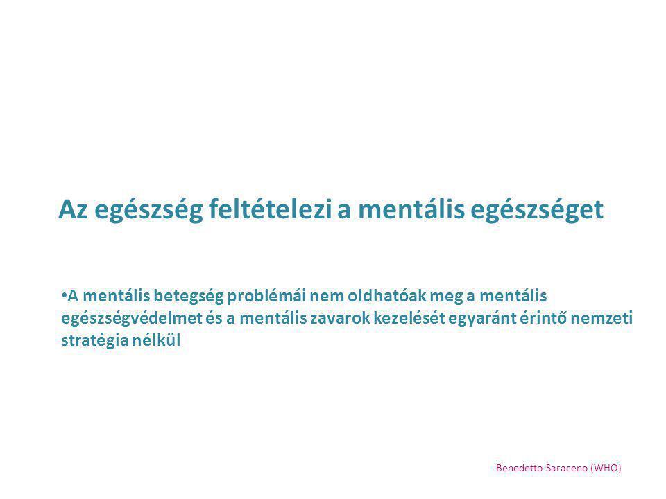 Az egészség feltételezi a mentális egészséget