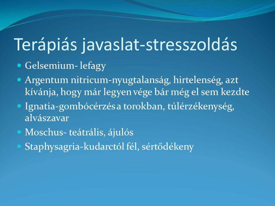 Terápiás javaslat-stresszoldás