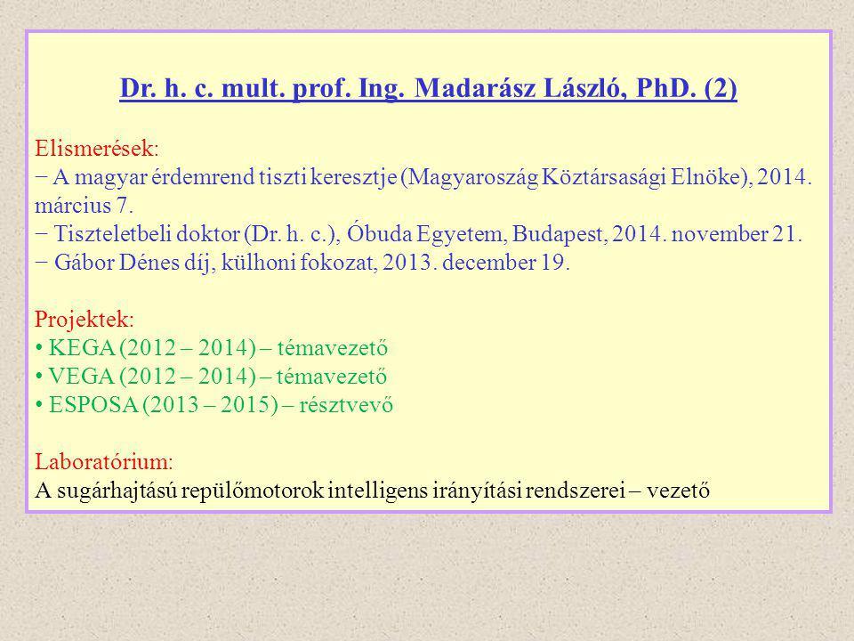 Dr. h. c. mult. prof. Ing. Madarász László, PhD. (2)