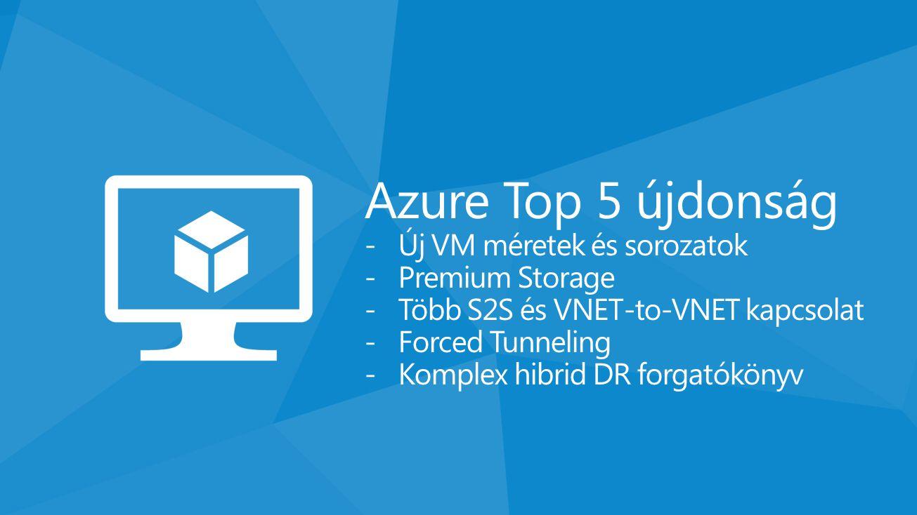 Azure Top 5 újdonság Új VM méretek és sorozatok Premium Storage