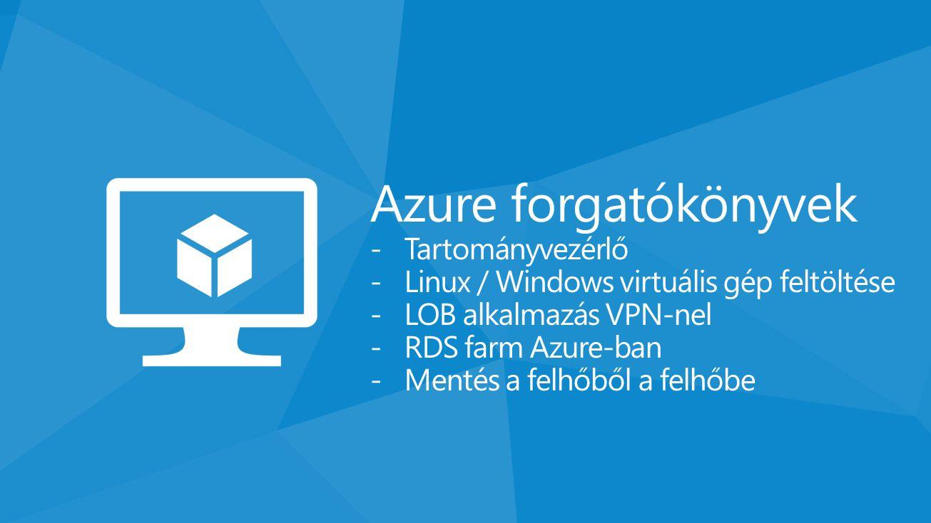 Azure forgatókönyvek Tartományvezérlő