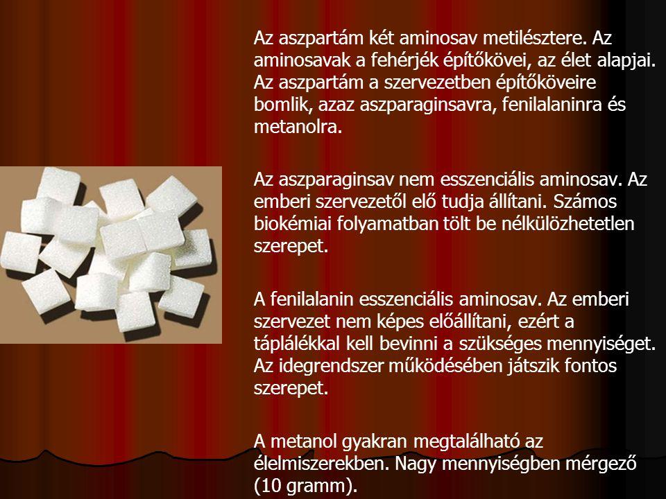 Az aszpartám két aminosav metilésztere