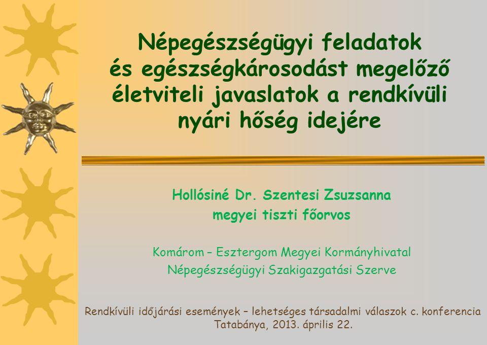 Népegészségügyi feladatok Hollósiné Dr. Szentesi Zsuzsanna